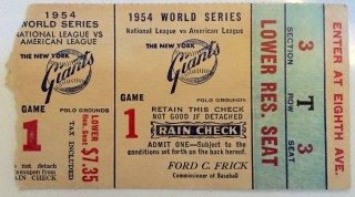 1954 World Series Game 1 Indians at Giants 293