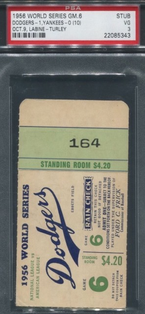 1956 World Series Game 6 Yankees at Dodgers 275