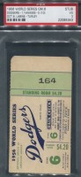 1956 World Series Game 6 ticket stub NY Yankees at LA Dodgers