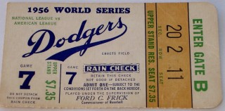 1956 World Series Game 7 Yankees at Dodgers 150