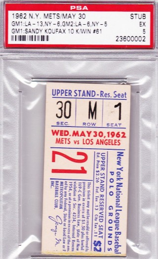 1962 MLB Dodgers at Mets 152