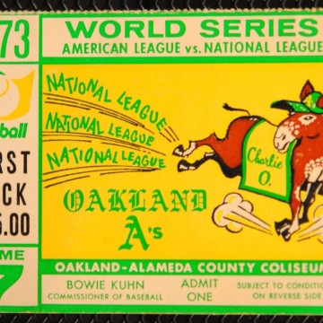 1973 World Series Game 7 Mets at As ticket stub