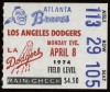1974 Dodgers at Braves Hank Aaron 715th HR