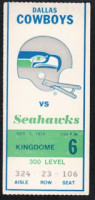 1976 NFL Cowboys at Seahawks