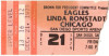 1979 Chicago Linda Ronstadt The Eagles concert ticket stub San Diego