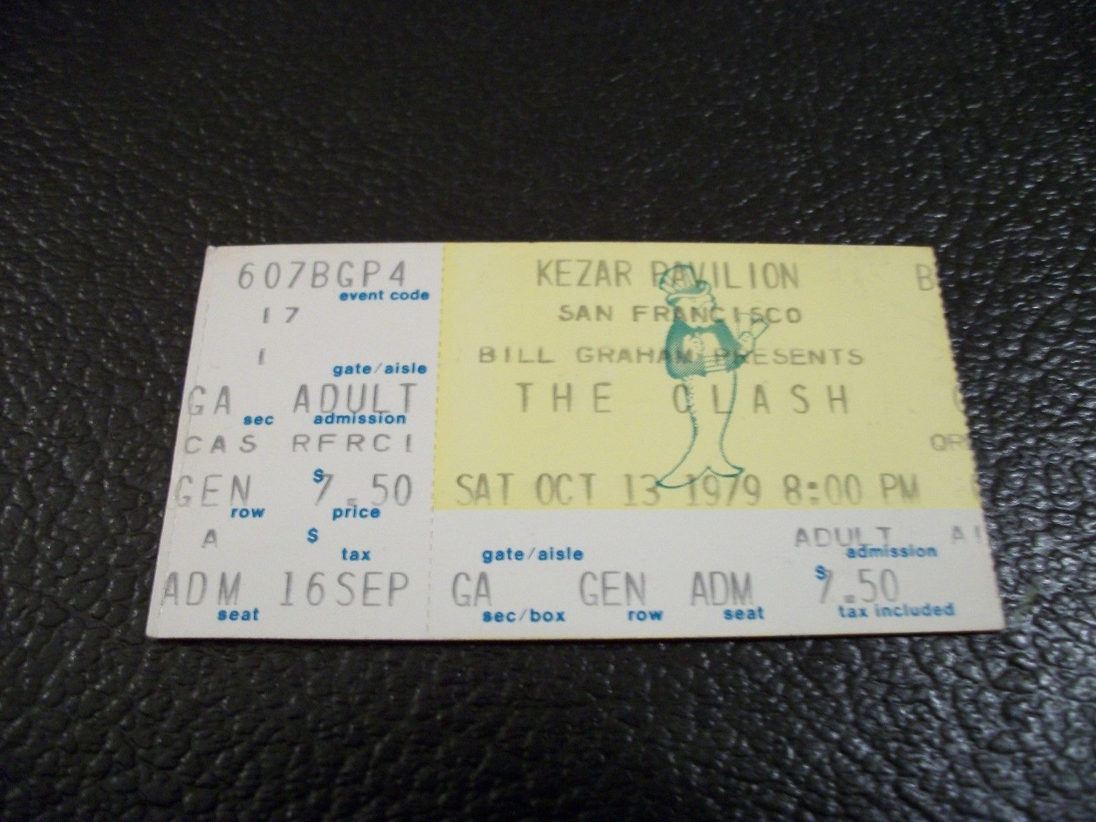 1979 The Clash Kezar Pavillion San Francisco