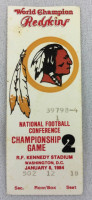1984 NFC Championship Game 49ers at Redskins