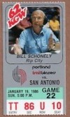 1986 NBA Spurs at Trail Blazers