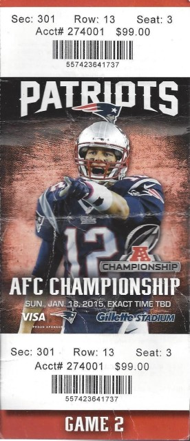 AFC Championship Ticket Stub Collection