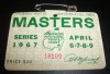 1967 Augusta Masters Golf Badge Gay Brewer