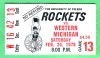 1979 NCAAMB Western Michigan at Toledo ticket stub