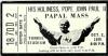 1979 Pope John Paul at Yankee Stadium ticket stub