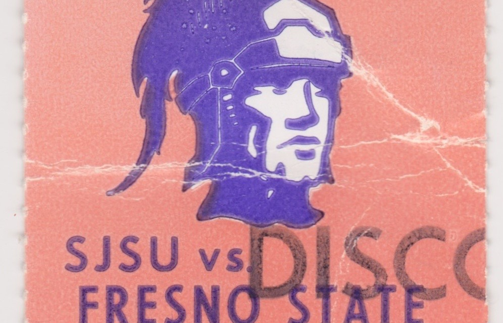 1980 NCAAF San Jose State ticket stub vs Fresno State for sale