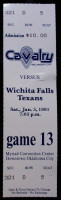 1991 CBA Wichita Falls Texans at Oklahoma City Cavalry