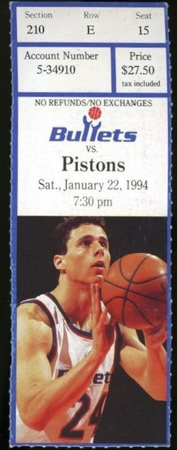 1994 Pistons at Bullets