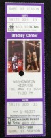 1998 NBA Wizards at Bucks ticket stub