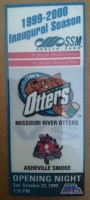 1999 UHL Asheville Smoke at Missouri River Otters ticket stub