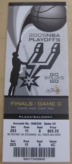 2005 NBA Finals Game 6 Pistons at Spurs ticket stub 5