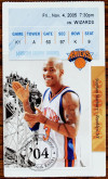 2005 Wizards at Knicks ticket stub