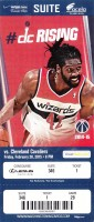 2015 NBA Cavaliers at Wizards ticket stub