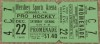 1945 AHL New Haven Eagles at Hershey Bears