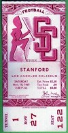 1951 NCAAF Stanford at USC ticket stub