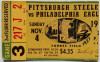 1951 NFL Eagles at Steelers ticket stub