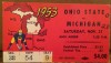 1953 NCAAF Michigan ticket stub vs Ohio State