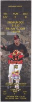 2009 MiLB Toledo Mud Hens at Rochester Red Wings ticket stub