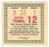 1926 Red Grange Chicago Bears at Los Angeles Tigers ticket stub