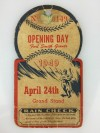 1949 Ft. Smith Giants Die Cut Opening Day