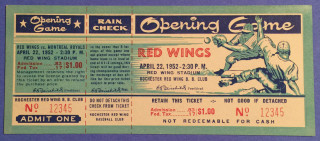 1952 MiLB Montreal Royals at Rochester Red Wings ticket stub 9