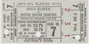 1975 PCL Championship Salt Lake City Gulls at Hawaii Islanders ticket stub