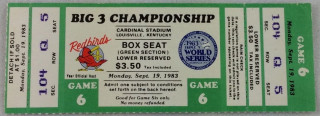 1983 MiLB AAA World Series Denver Bears 5 vs Portland Beavers 4 ticket stub
