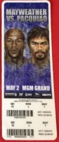 2015 Boxing Maywether vs Pacquiao ticket stub
