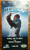 2015 MiLB Dayton Dragons at West Michigan Whitecaps ticket stub