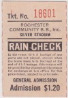 MiLB Rochester Red Wings ticket stub from Silver Stadium