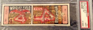 1932 World Series Game 4 Full Ticket Yankees vs Cubs