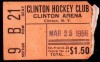 1956 EHL Clinton Comets Playoff ticket stub vs New Haven