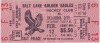 1977 Salt Lake Golden Eagles ticket vs Oklahoma City Blazers