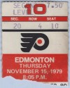 1979 NHL Oilers at Flyers Gretzky's 17th NHL Game