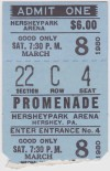 1980 AHL Hershey Bears ticket stub