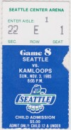 1985 WHL Kamloops Blazers at Seattle Thunderbirds
