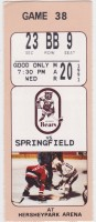 1991 AHL Springfield Indians at Hershey Bears