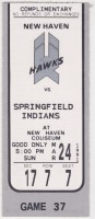 1991 New Haven Nighthawks ticket stub vs Springfield