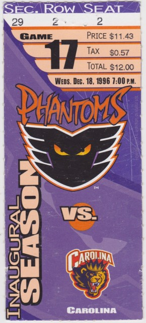 1996 AHL Carolina Monarchs at Philadelphia Phantoms ticket stub.jpg