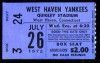 1972 MiLB West Haven Yankees ticket stub