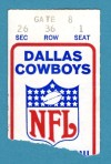 1971 NFC Championship Game 49ers at Cowboys ticket stub