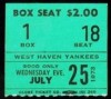 1973 West Haven Yankees ticket stub
