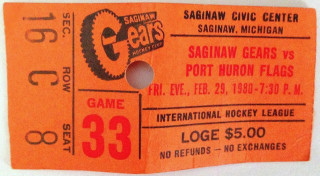 1980 IHL Port Huron Flags at Saginaw Gears